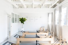 MNT Pilates Studio - Cassandra Crain San Francisco Interior Design before and after for beginners reformer reformer exercises studio workout Pilates Studio, Logo Pilates, Pilates Reformer, Pilates Workout, Studio Workouts, Yoga Studio Design, Interior Design Studio, Gym Design, Plan New York