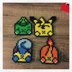Pokemon butts coasters perler beads
