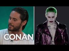 Jared Leto Tested Out A Few Different Joker Laughs  - CONAN on TBS    //Pinterest & Tumblr: aloraphernelia//