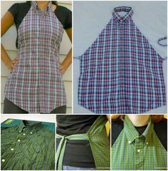 Men's Shirt Apron Upcycle Tutorial