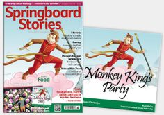 Springboard Stories Issue 3: Food is a feast of creative ideas for cross-curricular learning, all wrapped around the story 'Monkey King's Party' by Debjani Chatterjee. You'll find some superb articles and resources linked to China, MFL, poetry and farming including the fabulous posters 'Picking peaches' by Dong Guang Rui and 'Little Callestock Farm' by Sonia Callaway.