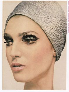 Halston Hat Vogue, and those eye lashes. Beautiful.