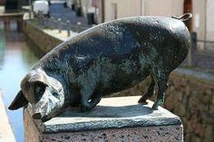 Pig Art, Hippopotamus, Statue, Pigs, Sculpture, Model, Animals, Piglets, Animales