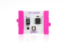 i16 - The littleBits pulse module is like an electronic heartbeat. It sends out a stream of short ON signals, and you can make the speed of the pulses faster or slower using the included screwdriver. It's great for making LEDs blink!