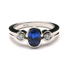 Bezel Setting Engagement Rings Sapphire And Diamond 15