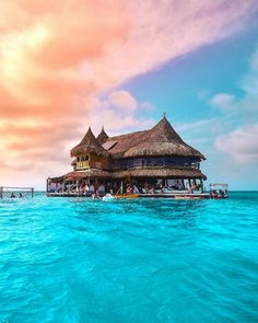 An eco-friendly hostel in the middle of the Caribbean ocean of Colombia Would you stay here? (: An eco-friendly hostel in the middle of the Caribbean ocean of Colombia Would you stay here? Visit Colombia, Colombia Travel, Places Around The World, Travel Around The World, Around The Worlds, Mumbai, Destinations, Travel Flights, Flight And Hotel