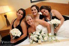 The bride and her bridesmaids get ready in the bridal suite at the Ramada Toms River! The room is complimentary for the newlyweds the night of the wedding. www.VersaillesCaterers.com. Photo courtesy of Versatile Event Designs.  #NJWeddings #WeddingsNearTomsRiver #VersaillesBallroom #WeddingsNearJerseyShore #Bride #Groom #Weddings #CentralNJWeddingVenue #NJWeddingVenue #WeddingPhotography #NJBanquetHall #NJWeddingVenue #Ramada #JerseyShoreWeddings