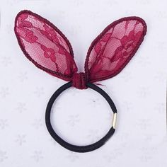 Hot Cute Lovely Lace Rabbit Ear Elastic HairRing Rubber Band Hair Clip Hairpin Hair Jewelry Gift