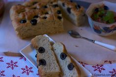 Focaccia with Olives by Pearlsa, via Flickr