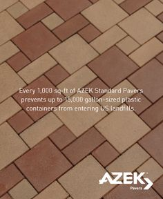 Of Of Petroleum Based Plastic Containers Are Placed Into Landfills. By  Choosing AZEK Pavers, You Can Reduce That Number!