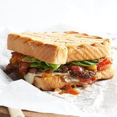 If you thought the BLT couldn't get any better, then you haven't tried our tomato switch-up. Ditch the slices for homemade tomato peach chutney. Melted mozzarella and buttery Texas toast make this sandwich ooey-gooey good./