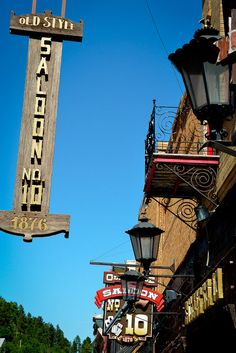 Deadwood, South Dakota, #10 Saloon where Wild Bill Hickock was killed. The re-enactment was fabulous. It was one of the best things on our trip
