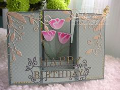 Stamping with Bibiana: Birthday Double Sided Step Card