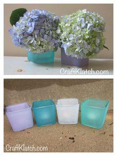 DIY Beachy Vases or Votives | Easy Beach Decor |  Dollar Store Craft
