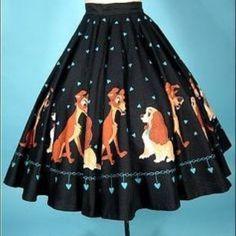 Rare 50 s Vintage Lady And The Tramp Vintage Hoop Skirt