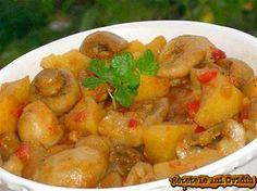 Quaint Popular Recipes For Dinner Healthy Pork Mushroom Recipes, Vegetable Recipes, Vegetarian Recipes, Cooking Recipes, Healthy Recipe Videos, Healthy Recipes, My Favorite Food, Favorite Recipes, Romanian Food