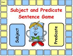 This is a great game for students to identify the subject and predicate parts of a sentence.