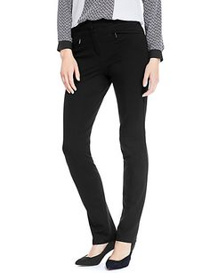 M/&S Navy Pull On Wide Leg Trousers Womens Elasticated Waist Rrp £25 Uk 12-10-8