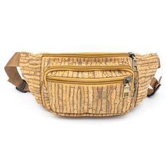 Kork Bauchtasche «Stripe» – Ökologische Gürteltasche – Waist bag Cork Purse, Vegan Wallet, Striped Bags, Vegan Handbags, Hip Bag, Unique Bags, Womens Purses, Tote Bag, Zipper Bags