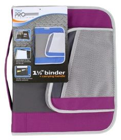 Mead PRO Platinum Heavy-Duty Zipper Binder with Handle, 1.5 Inch Capacity, 11.25 x 13.75 x 2 Inches, Purple (72878)