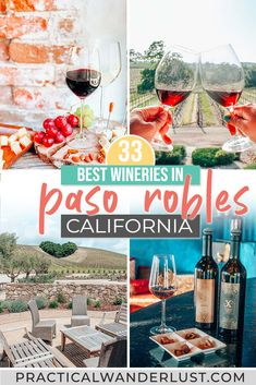 The best Paso Robles wineries! Paso Robles, California is the Central Coast's wine country, and wine tasting is one of the best Paso Robles things to do! Usa Travel Guide, Travel Usa, Travel Guides, Canada Travel, Travel Tips, Paso Robles Wineries, Visit Usa, To Infinity And Beyond, United States Travel