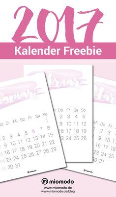 Kalender 2017 zum Ausdrucken #freebie #kalender #printable