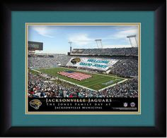 Your Name on a sign in Jacksonville Municipal, Your Day at the Stadium.  Great gift for Jaguars Fans. Customize with your name on cards held by the fans and make it Your Day at the stadium.
