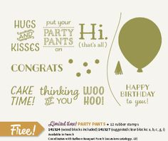 Stampin' Up!- 'Party Pants'- New limited time free stamp set from S-A-B beginning Clear Wood Coordinates w/ Balloon Bouquet Punch. Spinner Card, Bee Design, Balloon Bouquet, Some Cards, Ballon, Animal Party, My Stamp, Stampin Up Cards, Making Ideas