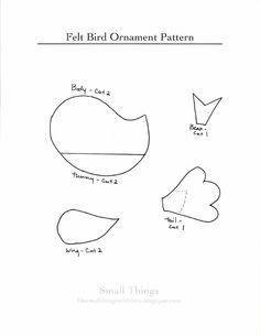Felt Bird Pattern