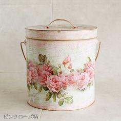 Wastepaper basket sans top, of course