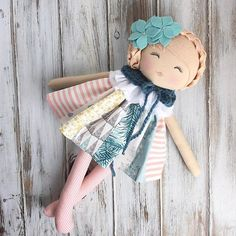 One last pretty girl made it into our #spuncandylittletowncollection release ❤️ Restock is tomorrow at 11am (CST) #spuncandydolls #dollstagram #handmadetoy #christmasdoll #giftidea