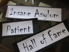 Insane Asylum Patient Hall of Fame