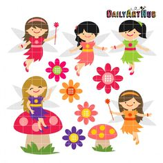 Spring Time Fairies from Daily Art Hub 7-7-15