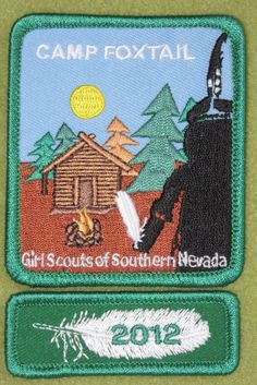 Girl Scouts Southern Nevada Camp Foxtail patch and 100th anniversary rocker. Thank you, Tammy.
