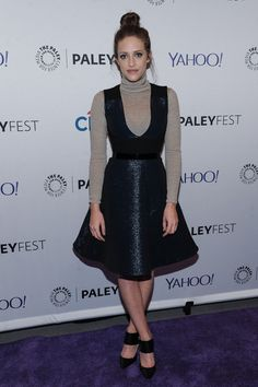 """Carly Chaikin Photos - Carly Chaikin attends PaleyFest New York 2015 - """"Mr. Robot"""" at The Paley Center for Media on October 2015 in New York City. - PaleyFest New York 2015 - 'Mr. Carly Chaikin, Paley Center, October 14, Red Carpet Dresses, Red Carpet Fashion, Boho Style, Boho Fashion, Celebrity Style"""