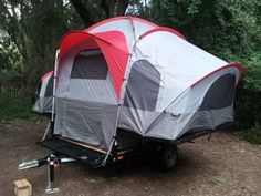 Amazon.com: Lifetime Deluxe Tent Trailer Kit (Grey/Red): Sports & Outdoors