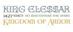 Elizabeth OT published by Richard Beatty. #fonts #hobbit