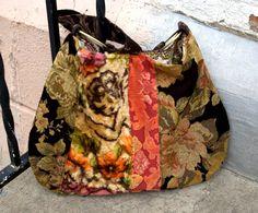 Velvet carpet bag