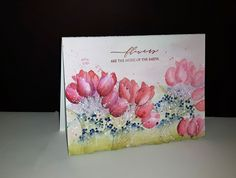 Penny Black Cards, Watercolor Cards, Simply Beautiful, Tulips, Stampin Up, Photography, Artists, Holidays, Spring