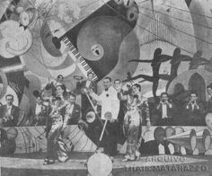 ESTRELAS QUE NUNCA SE APAGAM: AURORA MIRANDA - O Centenário da Nossa Outra Pequena Notável A cena clássica de Alô, Alô Carnaval, de 1936. Nós somos as cantoras do rádio. Carmen Miranda, maestro Simon Bountman de branco e Aurora Miranda.