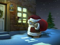 Forever Friends Santa Bear Chimney Christmas snow presents gifts - YouTube