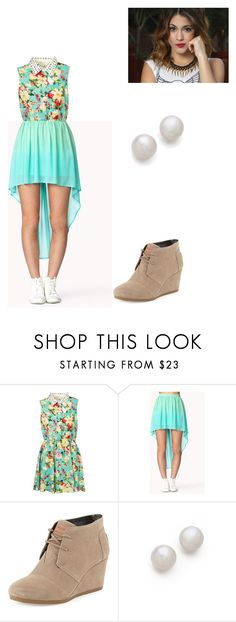 """dragut"" by maria-cmxiv ❤ liked on Polyvore featuring Forever 21, TOMS and Kenneth Jay Lane"
