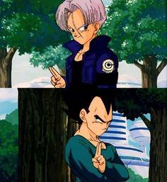 Trunks & Vegeta father son moment