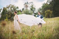 Pre-ceremony wedding photos with my man at Rufflands Farm in Red Hook, NY. Photos by @Divine Light Photography , dress by Kathryn Conover, #hudsonvelleywedding #barnwedding #capeveil