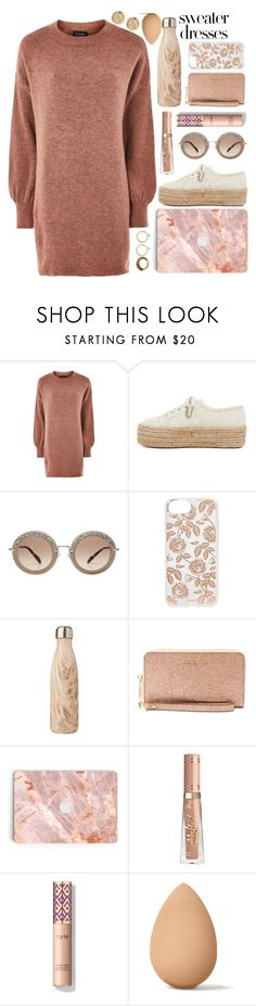 """""""sweater dresses"""" by fightskirt ❤ liked on Polyvore featuring Topshop, Superga, Miu Miu, Sonix, Michael Kors, beautyblender and sweaterdresses"""