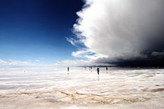 Storm Over the Salar de Uyuni, Bolivia /