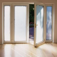 Front Door Window Privacy | ... Film Installation Examples - Frosted Glass Window Film for Front Doors
