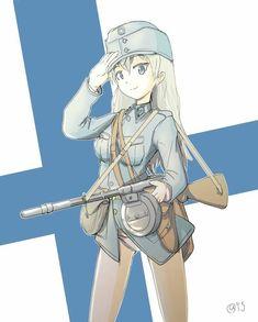 Art of war Anime Toon, Chica Anime Manga, Anime Comics, Anime Military, Military Girl, Guerra Anime, Anime Art Girl, Anime Girls, Brave Witches