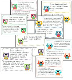 "Cute and Colorful ""I Can..."" Statements for Common Core.  Now available  on my TpT store."