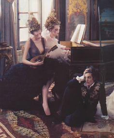 Gemma Ward, Karen Elson by Annie Leibovitz for Vogue #rococco return